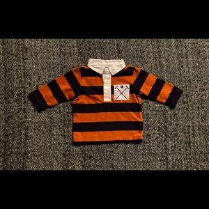 Jacadi striped rugby shirt size 6